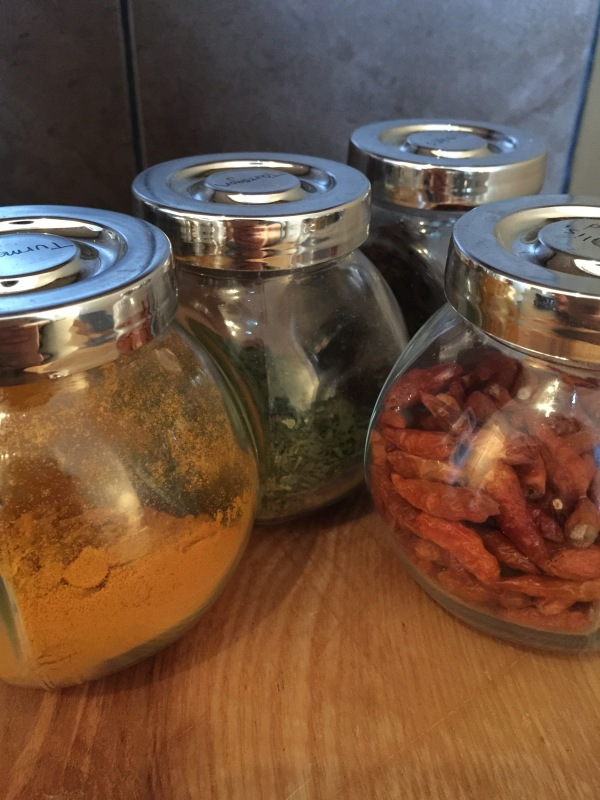 Rajtan glass Spice jars from Ikea, A serious bargain at 4 for £1.50.