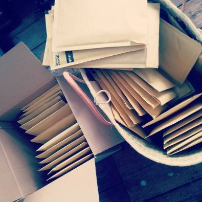 Pre-orders hand packed and ready to be shipped.