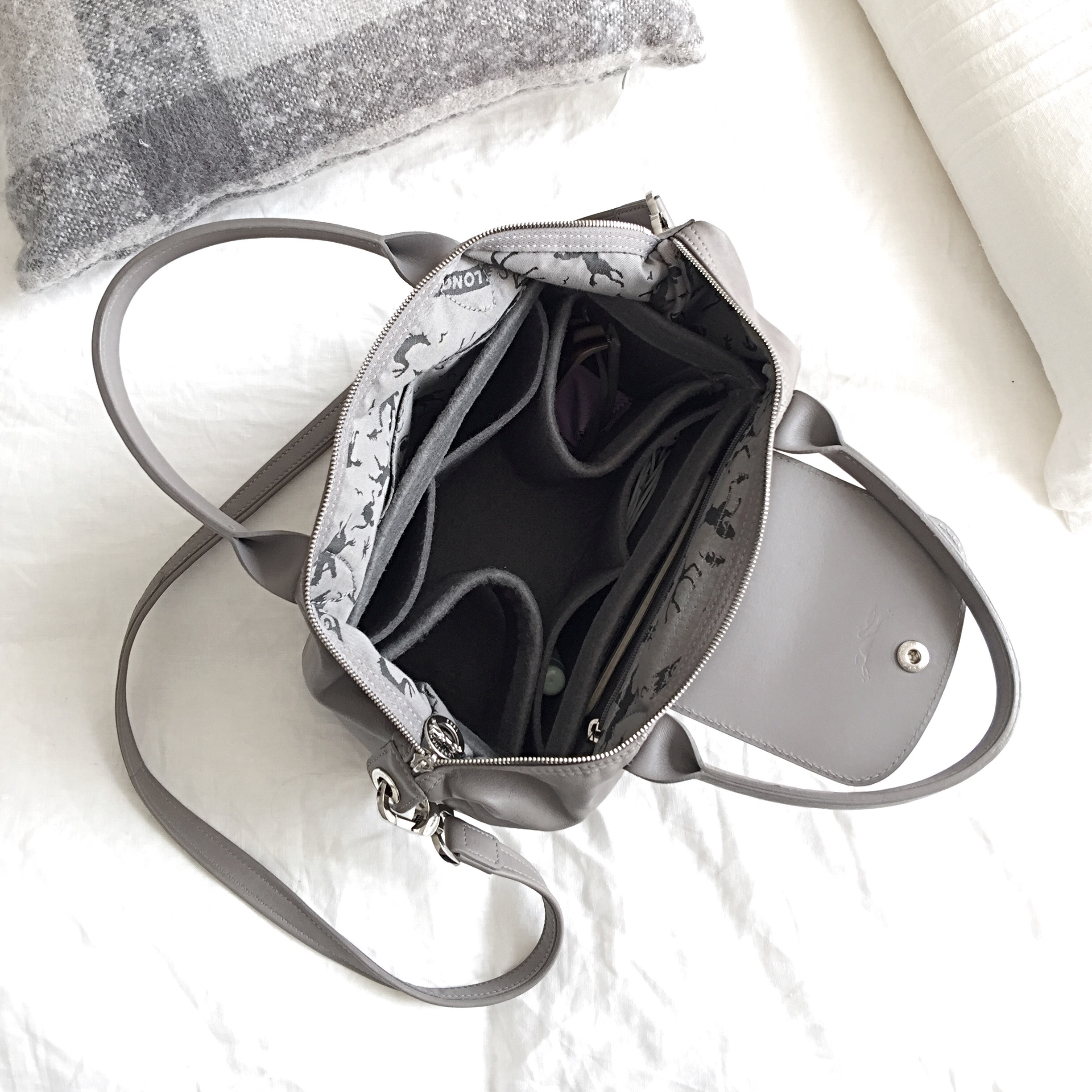 longchamp le pliage cuir + originalclub organiser (product review ... f909a1dc0e41c