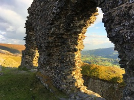 "Dinas Bran translates as Crow City, but is usually referred to as ""Crow's Castle""."