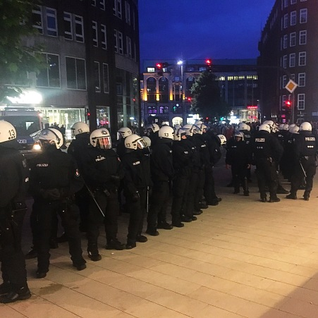Lots and lots and lots and lots of police. Everywhere.